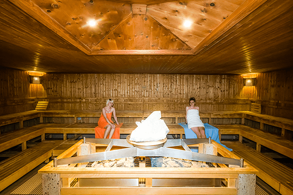 KRISTALL-SAUNA (innen) ca. 95°C